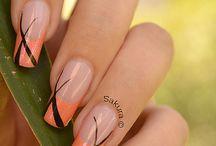 yellow orange nails