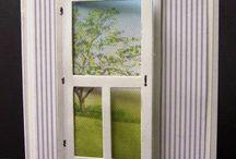 Handmade Cards- Doors & Windows / Door and window doe cards