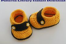 Crochet Patterns / Crochet patterns for handmade baby crochet booties and baby crochet hats.