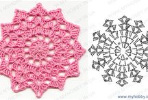 Crochet doily motifs