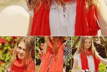 Summer Scarves / A great way to add a bit of colour, and detailing to tie an outfit together!