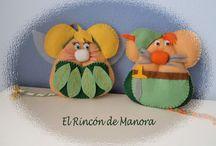 Ratoncitos (by Manora) / Ayudantes del Ratoncito Pérez realizados en fieltro