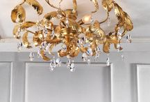 Wrought iron ceiling lamps / Wrought iron ceiling lamps in classic and contemporary style