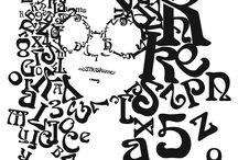 """Type """"face"""" portraits / A collection of portraits created exclusively from Typographic forms."""