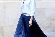 Pleated Metalic Midi Skirt