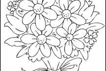 omalovánky kvety