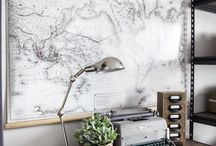 Maps on the wall
