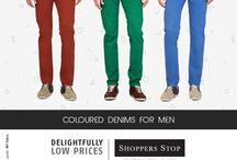 Coloured Denims for Men / Fashionable coloured denims for men.