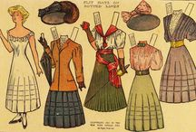Antique paper dolls