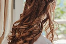 Wedding hairstylist in Rome / Loose wedding hair and side hairstyles for weddings in Italy