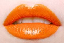 Orange Lips / Different shades of Orange & Coral Lips / by TINte Cosmetics