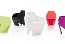 GEMMA, the small armchair.. / GEMMA, small armchair in rotomoulded polyethylene! Design by Karim Rashid 2013 for B-LINE