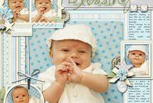 Baptism scrapbook page