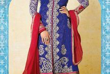 Traditional Anarkali Suits / Anarkali suit in traditional style with embroidery and patchwork