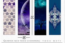 "YOGA MATS by Webgrrl / my designs + yoga mats from cafepress.  Features edge-to-edge printing, a textured, non-slip backing, and 1/4"" thick cushioning so you can strike any pose in style. Measures 72"" x 24"" x 1/4"""