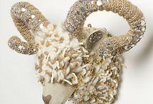 Embellished Skulls and Animal Heads