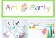 Art bday party