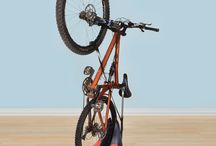 Bike Organization Ideas / Various ways to keep your bikes easily accessible & in good condition.