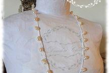 crochet necklace / #desiderichic, #chic, #shabbychic, #crochetnecklace, #collanauncinetto