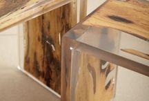 Мебель из дерева и ипоксидной смолы