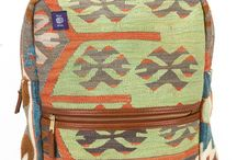 Kilim Backpacks / With enough room to hold all of your travel essentials, while still lightweight and comfortable enough to tote around all day, Res Ipsa Kilim Backpacks are the perfect travel companion. #ResIpsa