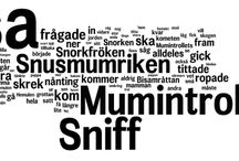 Wordclouds based on Moomin books by Tove Jansson