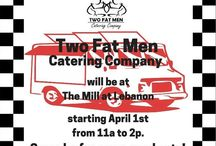 Two Fat Men Food Truck / We love meeting new people and serving our community. We would love for you to stop by and visit us!  www.twofatmencatering.com