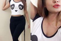 crop panda tee