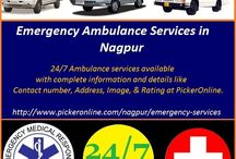 Emergency Services / This board all about the emergency services, which is available in Nagpur city of India.