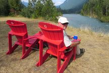 Share the Chair Canada / To celebrate Canada's 150th anniversary in 2017, Parks Canada is running a promotion called #ShareTheChair with bright red armchairs placed at strategic locations in national parks and historic sites all across the country. Park visitors are encouraged to post selfies of themselves using the chairs on social media. Here are a few snapshots of me fro road trip m our recent from Nanaimo to Winnipeg.