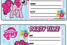 Stampabili gratis My little Pony / Stampabili gratuiti per una perfetta festa di compleanno in stile My little pony