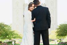 Salt Lake Temple Wedding Winter