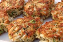 crab cakes / by Cyn Johnson