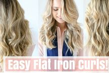 curling with flat iron