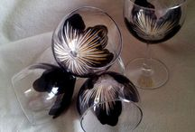 painted glass decorations