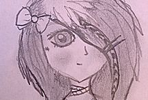 Anime drawn by me <3 / I love drawing and anime is my specialty. :)