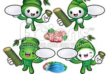Vector Plants Character Series / Boians Vector Plants Character Design Series.