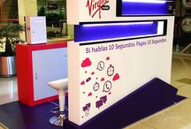 Virgin Mobile ColombiaTrade Marketing / here you will find some of the amazings that we have created to give visibility of the brand on the street.