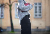 ■volume knit×skirt