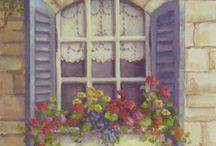 Bahçe evi pencere