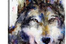 aaaaaaaArtwork Wolf Paintings