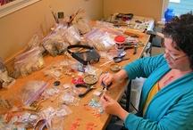 BluKatDesign studio / Inside my jewelry studio, upcycled jewelry, crafts, art / by BluKatDesign