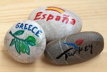 Pebble art, Beach craft / Cute things out of stones, pebbles, everything what ca be found at a beach