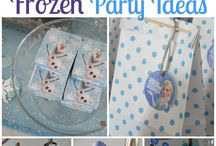 frozen party themed
