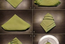 Table Napkin Ideas / by Sharron Riggins-Suttles