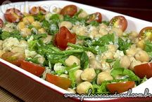 saladas de grão de bico