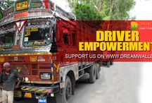 Driver Empowerment - Crowdfunding Campaign On Dreamwallets / The wheels which keep a country moving are the ‪‎drivers‬ of the country. The ‪‎truck‬ drivers are the real ‪soldiers‬ of highways who puts their life in danger, yet they are not given the due respect they deserve. Let us vow for a change. Lets make things better for the ‪Truck Drivers‬ of ‪‎India‬. ‪‎Empower‬ them with ‪skill‬, ‎health‬ & ‪‎wellness‬ by supporting this ‎crowdfunding‬ ‪campaign‬ (‪‎Driver Empowerment‬) on ‪‎DreamWallets‬.com