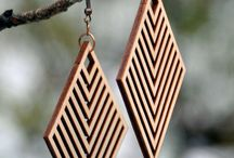 Wood earring