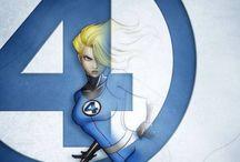 Comic art 29=Fantastic 4-Invisible woman (Sue Storm)-Prince Namor McKenzie The Sub-Mariner-Namora