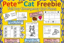 Kindergarten Substitute Lesson Plans / Quick substitute lesson plans for you kindergarten class when you are feeling sick.